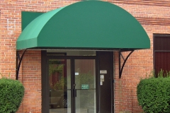 Green Store Front Door Awning