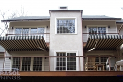 Two Striped Awnings
