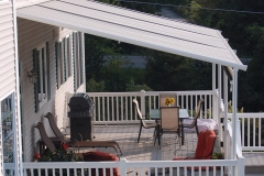 Side View of Backyard Awning