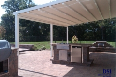 Side view of House Awning