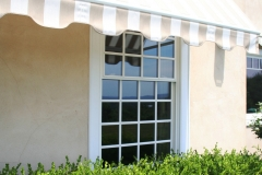 Striped Window Awning