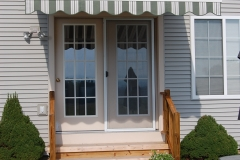 Striped Door Awning