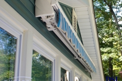 Closed Blue Awning