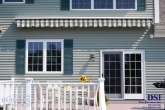 Closed Striped Awning