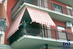 Striped Patio Awning
