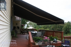 Side View of Deck Awning