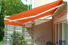 Side View of Orange Awning