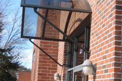 Side View of Door Awning