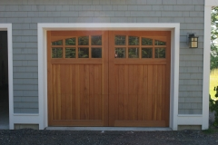 One Wooden Garage Door with Windows