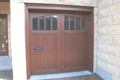 One Small Wooden Garage Door