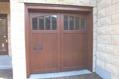 One Small Wooden Garage Door
