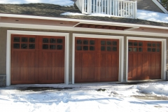 3 Dark Wood Garage Doors