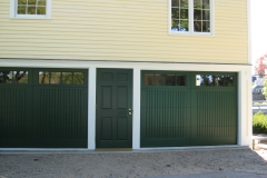 2 Dark Green Garage Doors