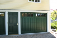 One Dark Green Garage Door