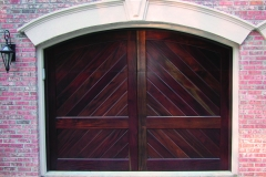Mahogany Bishop Garage Door