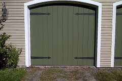 One Green Garage Door
