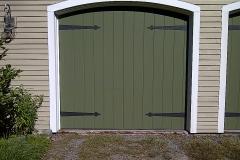 One Green Garage Door
