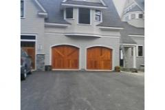 2 Tan Garage Doors