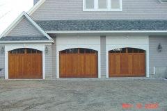 3 Web Cedar-Stain Garage Doors
