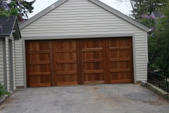 One Large Wooden Garage Door