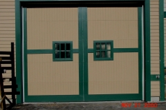 One Outlined Garage Door