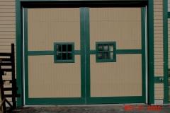 One Outlined Garage Door