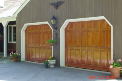 2 Wooden Garage Doors