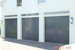 3 Green Garage Doors