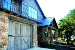 One Barn Style Garage Door