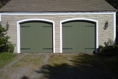 2 Green Garage Doors