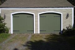 2 Green Garage Doors