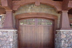 1 Wooden Garage Door
